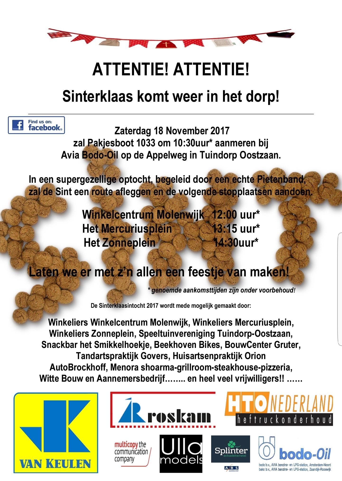 Sinterklaasintocht Amsterdam Noord Tuindorp Oostzaan