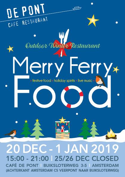 Winterrestaurant MerryFerryFood bij café De Pont